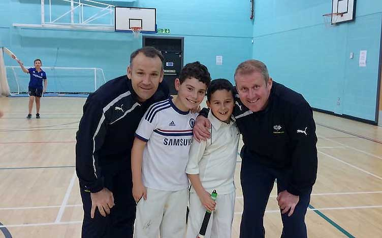 cricket camp, meeting Anthony McGrath Ex Yorkshire and England international.